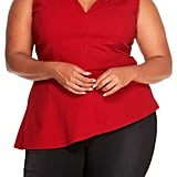 Rebel Wilson X Angels Women's Cut Out Peplum Top