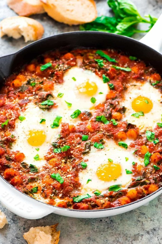 Italian Baked Eggs and Vegetables