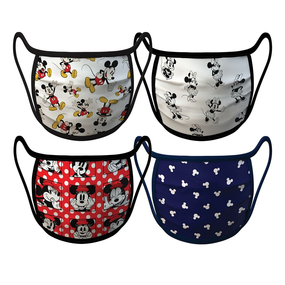 Mickey and Minnie Mouse Cloth Face Masks in Small