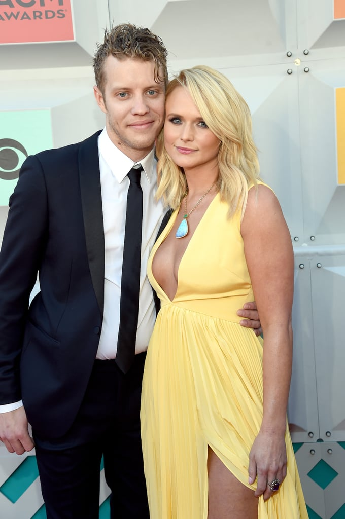 "Miranda Lambert arrived at the Academy of Country Music Awards in Las Vegas on Sunday night with her new boyfriend, Anderson East, on her arm. The singer, who looked smokin' hot in a high-slit yellow gown, stayed close to her other half and smiled sweetly while posing for photographers. The couple was first linked back in December, and the ceremony marks their first public appearance together. In addition to the duo's red carpet debut, Miranda took the stage with Billy Gibbons and Keith Urban for a performance of ZZ Top's ""Tush"" and won the award for female vocalist of the year. Keep reading to see more of their night."