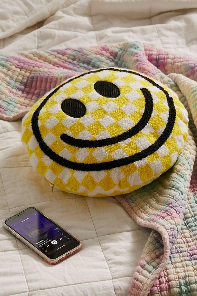 Something Fun: Happy Face Throw Pillow Bluetooth Speaker