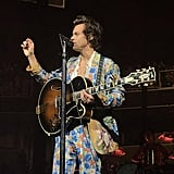 Harry Styles Wearing a Patterned Gucci Suit in 2018