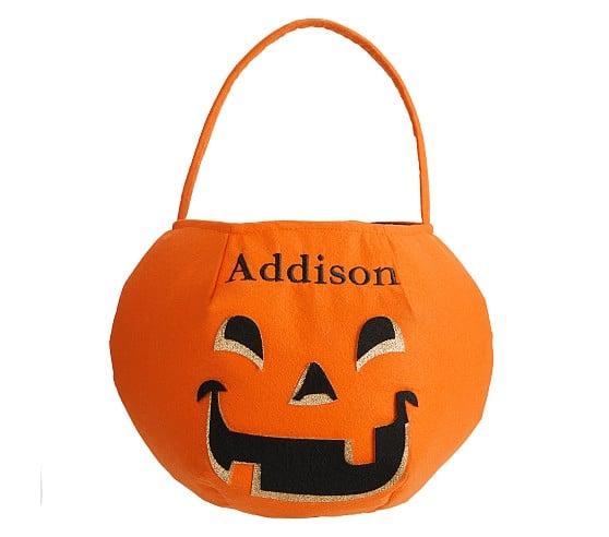 Pumpkin Glitter Treat Bag
