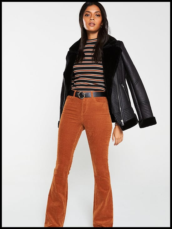 V by Very Faux Shearling Aviator Jacket