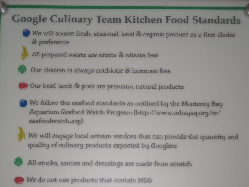 The Google culinary team has very high standards. I love that all of their stocks, sauces, and dressings are made from scratch!