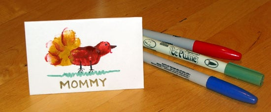 Kidoodles: Make Turkey Place Cards