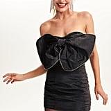 Celeste Moire Bow Dress