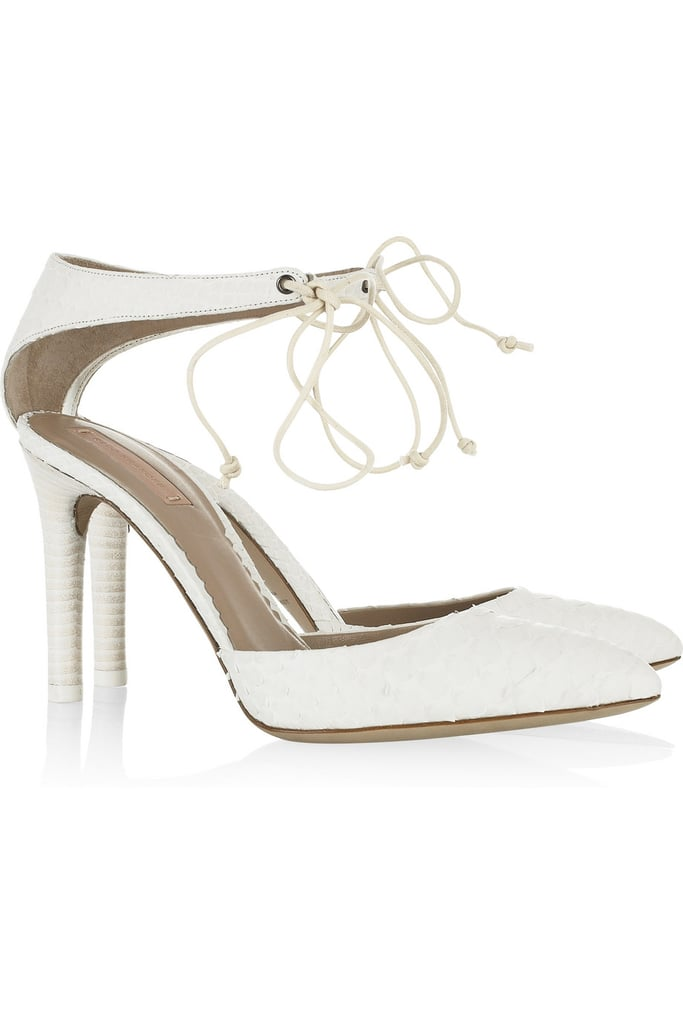 Winter white or Spring-forward light, this python-enhanced pump is a cool take on a classic style. Reed Krakoff Ankle-Tie Pointed Python Pumps ($290, originally $725)