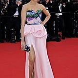Freida Pinto stepped onto the red carpet at the opening of the Cannes Film Festival and premiere of Moonrise Kingdom.