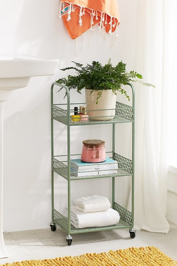 Urban Outfitters Langley Metal Rolling Storage Cart Bathroom - Bathroom outfitters
