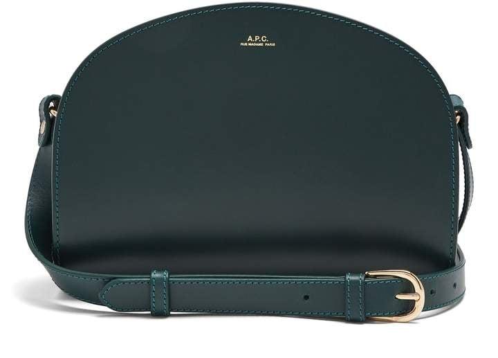 A.P.C. Half-moon Leather Cross-body Bag