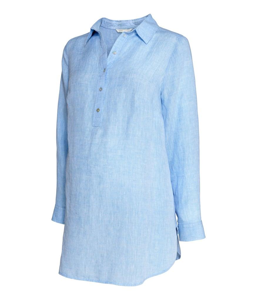 H&M MAMA Linen Blouse