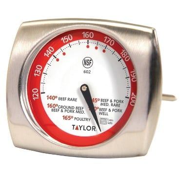 Taylor Gourmet Stainless Steel Leave-In Meat Thermometer
