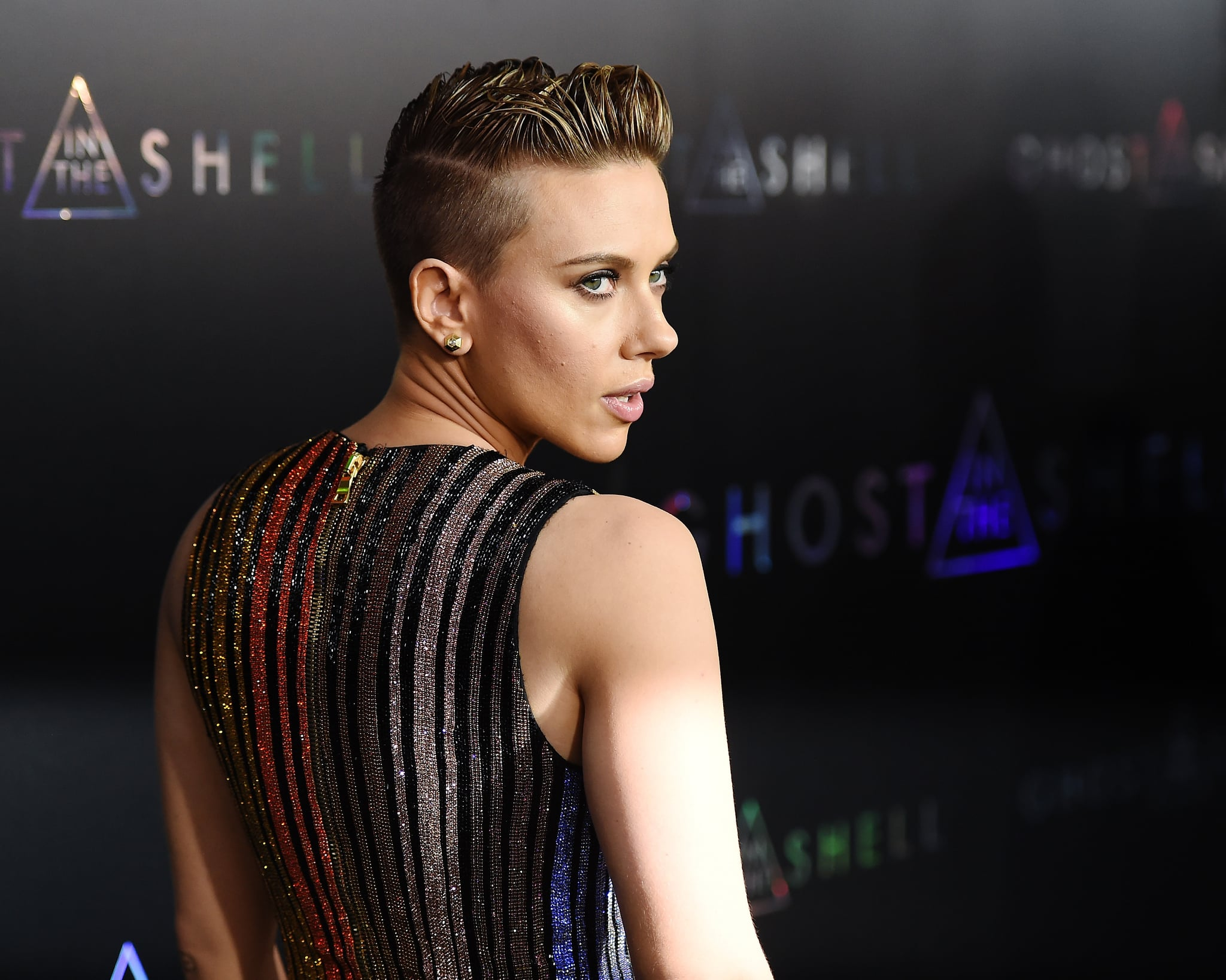 Scarlett Johansson At Ghost In The Shell Premiere In Nyc Popsugar Celebrity Photo 5