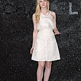 Elle Fanning poses in Paris for Chanel.
