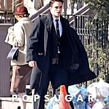 Robert Pattinson Filming Life With Black Hair