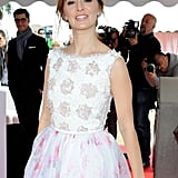 Ahna O'Reilly wore an embellished dress.