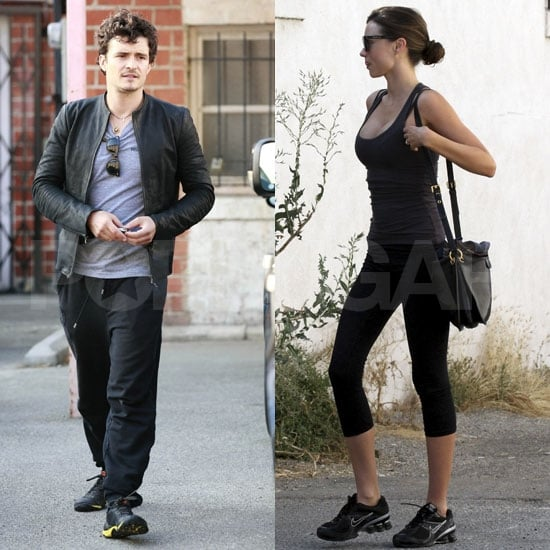 Miranda Kerr Pictures Exercising as Orlando Bloom Works Out