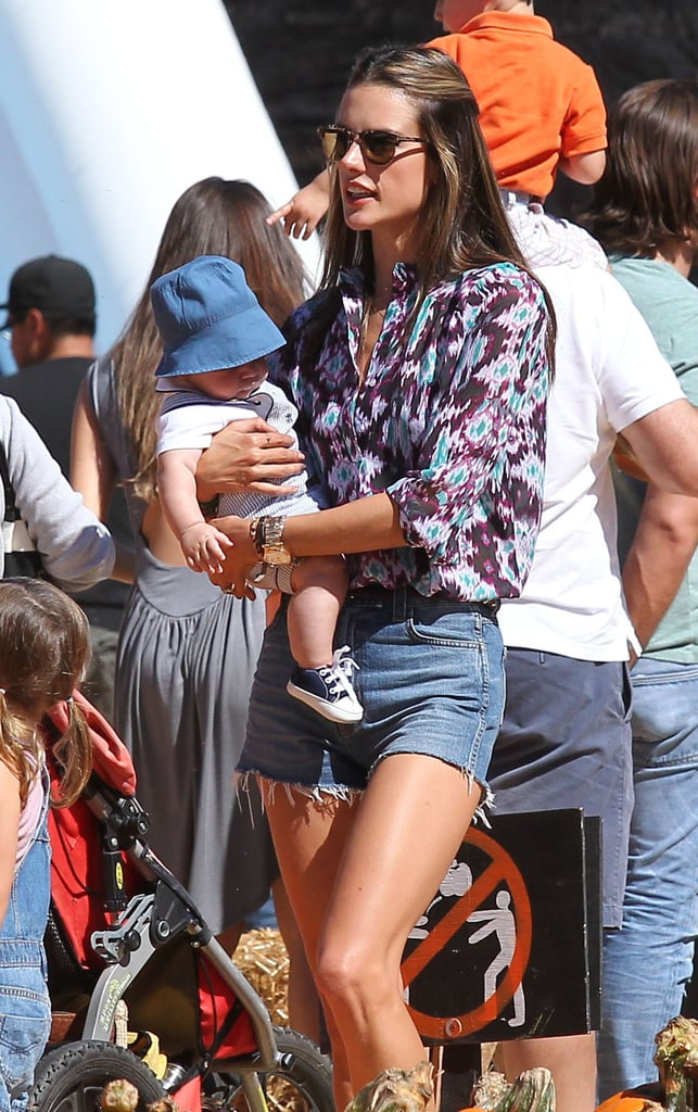 Alessandra Ambrosio and Jamie Mazur became parents for a second time with the May birth of Noah Mazur.