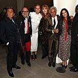Pictured: Valentino Garavani, Eric Buterbaugh, Gwyneth Paltrow, Charlotte Tilbury, Giancarlo Giammetti, Demi Moore, and Edward Enninful.