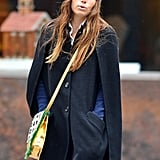 Jessica Biel wore a cape for a stroll in the Big Apple.