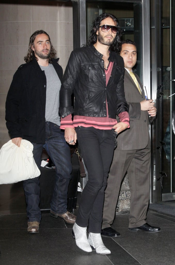 Pictures of Russell Brand Out in New York City
