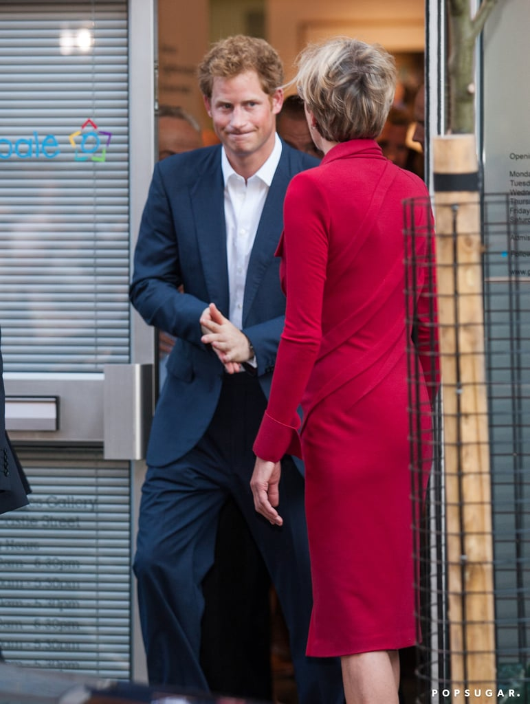 Prince Harry left a private viewing at the Getty Images gallery in London.