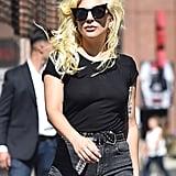 Lady Gaga Walking Around NYC August 2016
