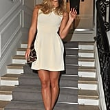 Bar Refaeli posed on the stairs at the Dior show in January 2012.