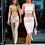 Gigi Hadid and Bella Hadid at the MTV VMAs 2019