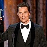 Matthew McConaughey Can't and Won't Stop Winning