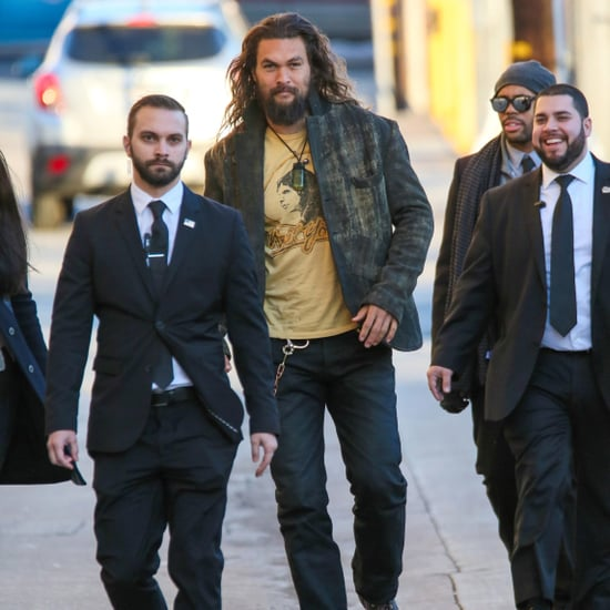 Jason Momoa Arriving at Jimmy Kimmel Live January 2017