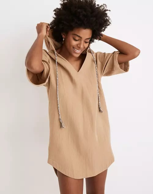 Madewell Hooded Cover-Up Tunic Dress