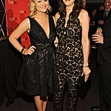 Funny ladies Amy Poehler and Kristen Wiig linked up at the Time 100 gala in NYC.