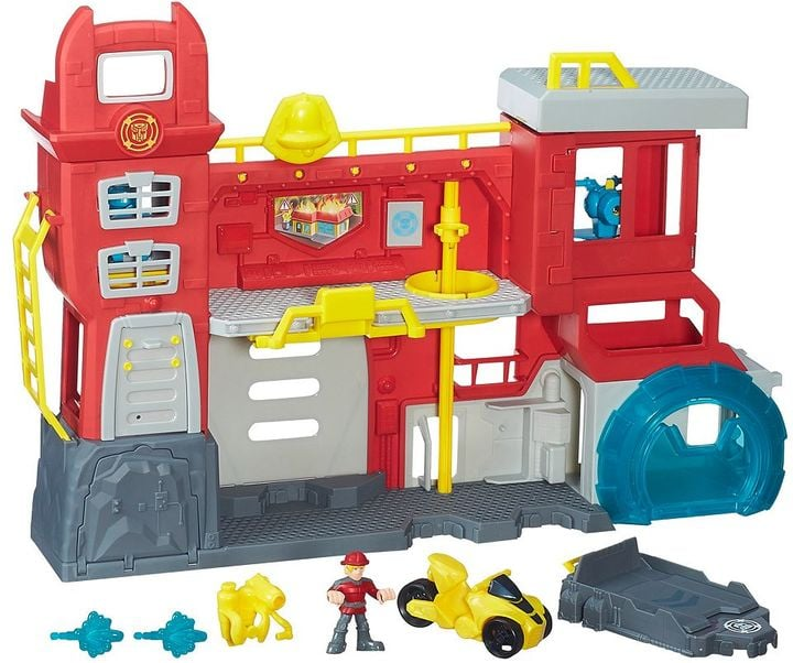 For 3-Year-Olds: Heroes Transformers Rescue Bots Griffin Rock Firehouse Headquarters