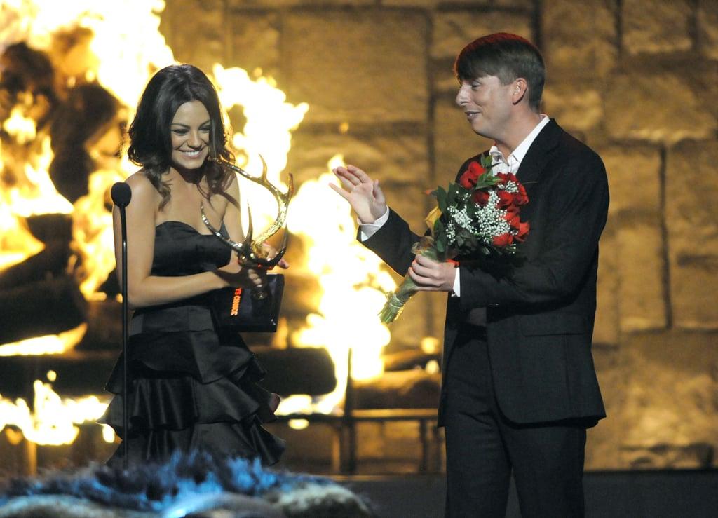 Jack McBrayer made Mila Kunis blush in 2009.