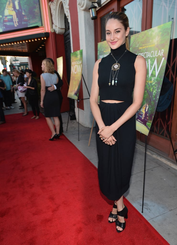 Shailene Woodley made black look not so basic in two piece Proenza Schouler for the New York screening of The Spectacular Now.