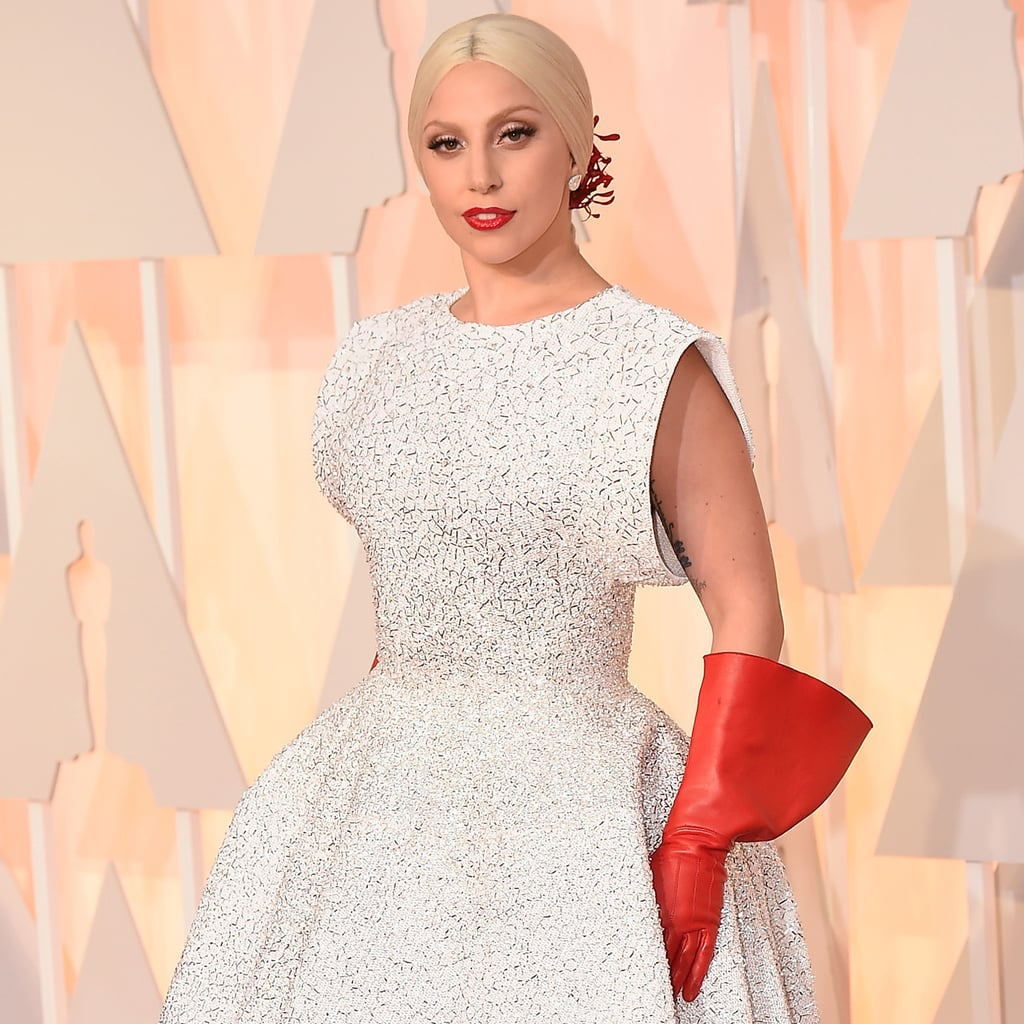 Lady Gaga Wore Dish Gloves to the Oscars