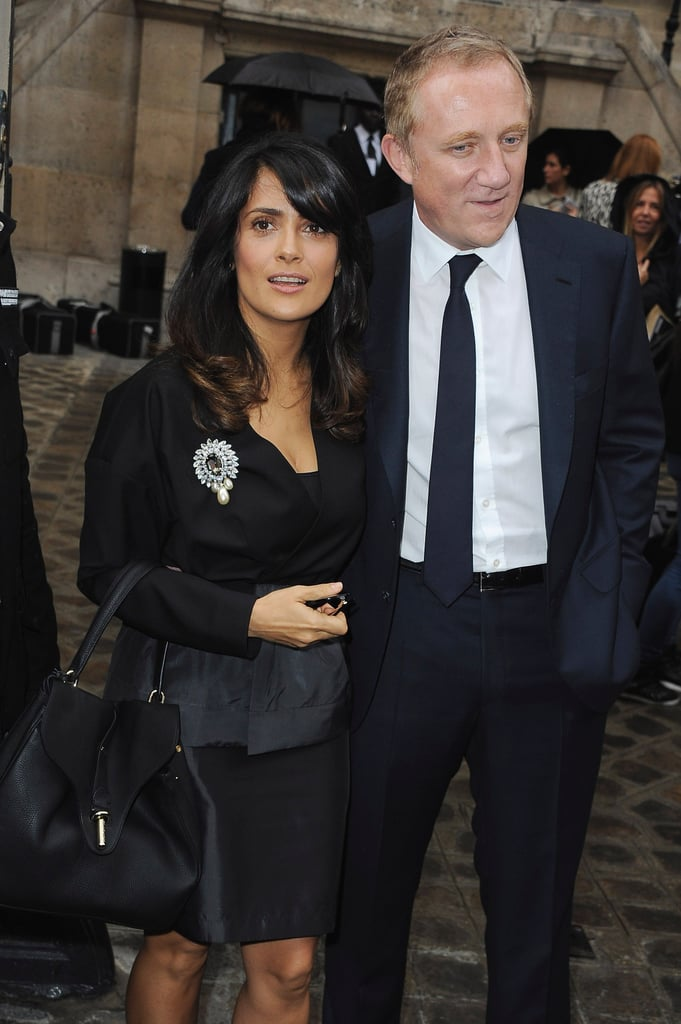 Salma Hayek and her husband, Francois-Henri Pinault, arrived together.
