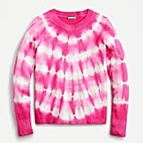 J Crew Cashmere Crewneck Sweater in tie-dye