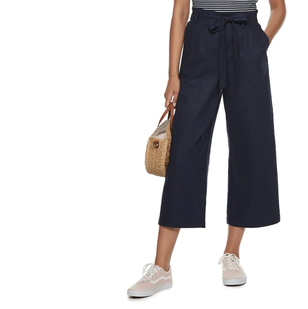 POPSUGAR Wide-Leg Paper Bag Pants