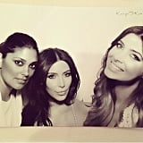 Designer Rachel Roy and Brittny squeezed in for a photo with Kim. Source: Instagram user kimkardashian