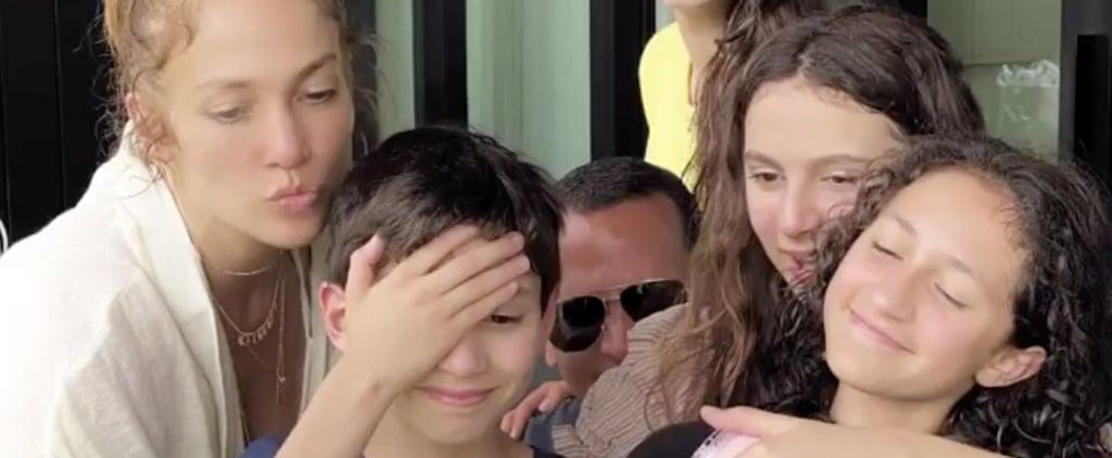Jennifer Lopez and Alex Rodriguez's Kids' Easter Egg Hunt