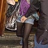 Sienna was boho chic for a stroll around London in 2005.