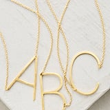 Anthropologie Monogram Pendant Necklace