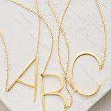 Anthropologie Monogram Pendant Necklace