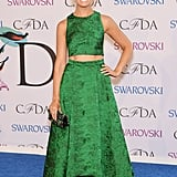 Beth Behrs showed a bit of midriff.