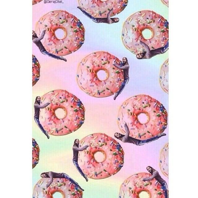 Jared Hugging Doughnuts