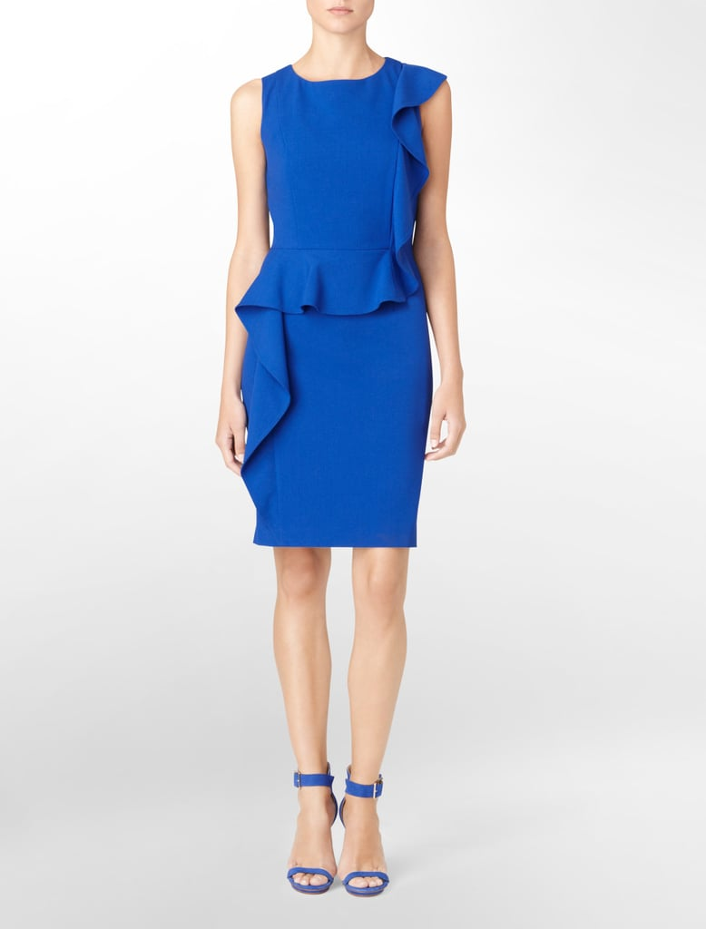 Calvin Klein Side-Swept Ruffle Dress ($100)