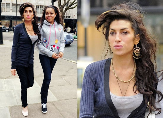 Photos of Amy Winehouse and Dionne Bromfield Shopping After Royalties From Rehab Song in Glee and Album Delays Due to Blake
